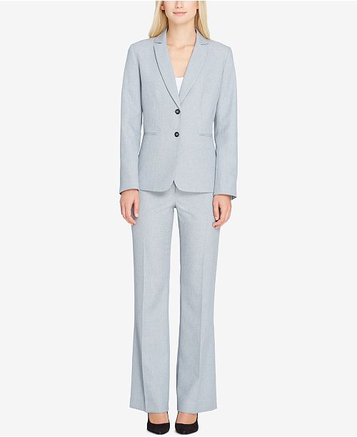 Tahari ASL Two-Button Pantsuit