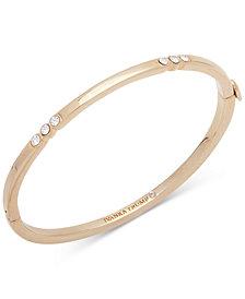 Ivanka Trump Gold-Tone Crystal Hinged Bangle Bracelet