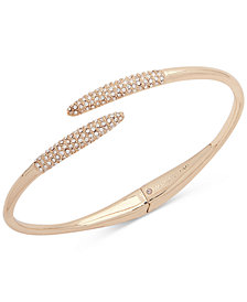 Ivanka Trump Gold-Tone Pavé Bypass Bangle Bracelet