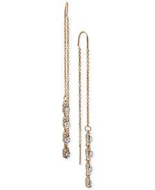 Ivanka Trump Gold-Tone Crystal Threader Earrings