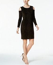 Connected Petite Cold-Shoulder Dress