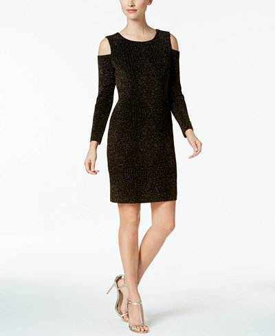 Connected Petite Cold-Shoulder Dress