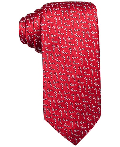 Club Room Men's Candy Cane Silk Tie, Created for Macy's