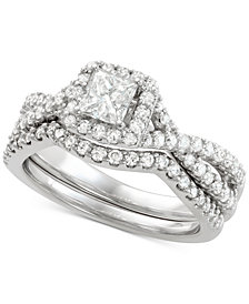 Diamond Bridal Set (1-1/5 ct. t.w.) in 14k White Gold