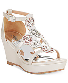 Badgley Mischka Sophia Flora Wedge Sandals, Little Girls (11-3) & Big Girls (3.5-7)