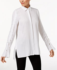Love Scarlett Petite Shirred Shirt, Created for Macy's