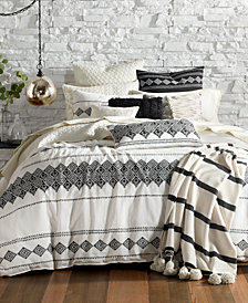Lucky Brand Embroidered Ikat Bedding Collection