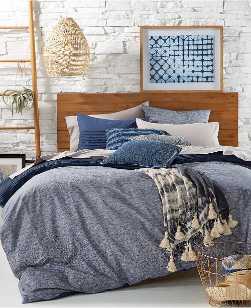 tommy hilfiger blues vintage pleated bedding collection bedding collections bed bath macys - Vintage Bedding