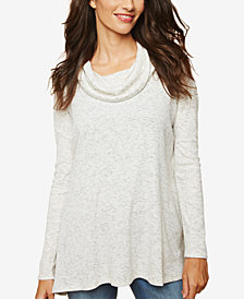 Motherhood Maternity Cowl-Neck Nursing Top