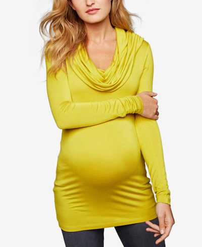 A Pea In The Pod Maternity Cowl-Neck Sweater