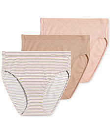Jockey Elance Breathe Cotton 3 pack French Cuts 1541