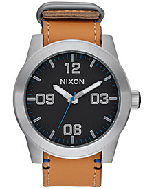 Nixon Men's Corporal Leather Strap Watch 48mm A243