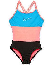 Nike 1-Pc. Colorblocked Swimsuit, Big Girls
