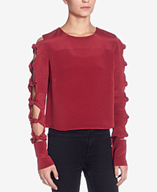 Catherine Malandrino Dorothy Silk Cutout Twist-Detail Top