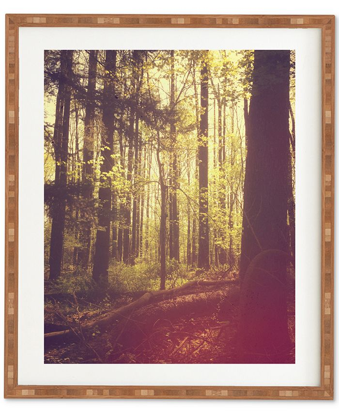 Deny Designs - Olivia St Claire She Experienced Heaven On Earth Among The Trees Bamboo Framed Wall Art