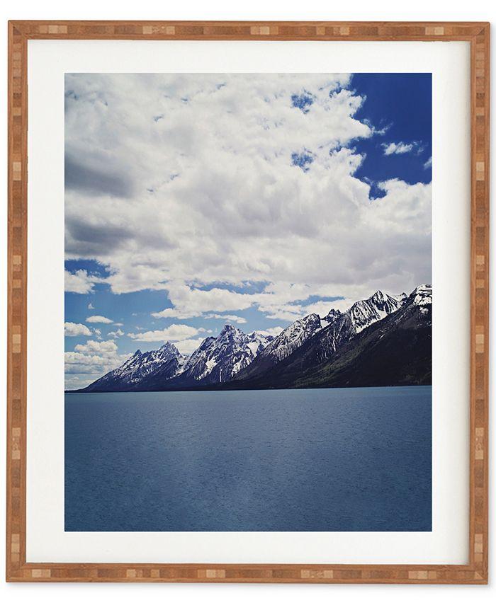 Deny Designs - Leah Flores Grand Tetons X Colter Bay Bamboo Framed Wall Art