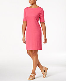 Karen Scott Cotton Boat-Neck Dress, Created for Macy's