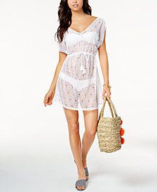 Miken Juniors'  Crochet X-Back Cover-Up, Created for Macy's
