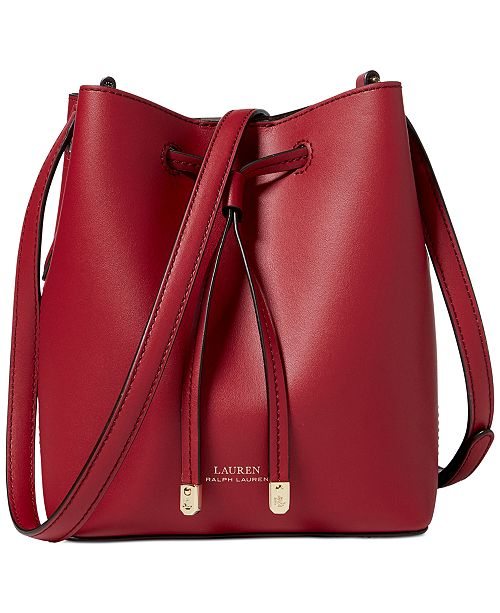 6523bcaa63d3 ... Lauren Ralph Lauren Dryden Debby II Mini Leather Drawstring Bag ...