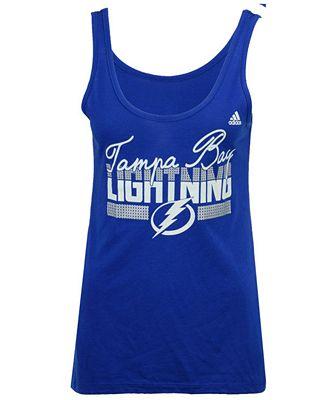 adidas Women's Tampa Bay Lightning Sequin Tank Top