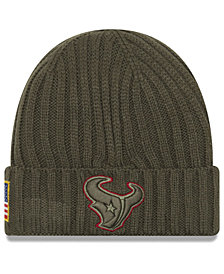 New Era Houston Texans Salute To Service Cuff Knit Hat