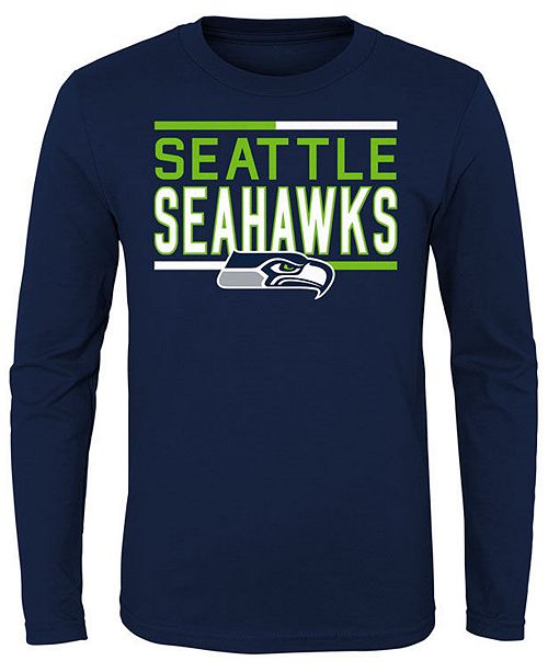 e2a3f8928a Outerstuff Seattle Seahawks Flag Runner Long Sleeve T-Shirt