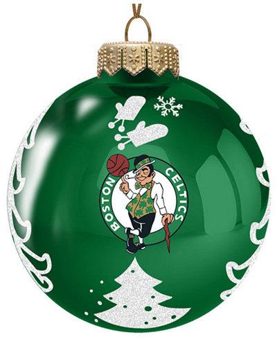 memory company boston celtics glass christmas tree ornament - Glass Christmas Tree