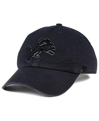 '47 Brand Detroit Lions Dark Charcoal CLEAN UP Cap