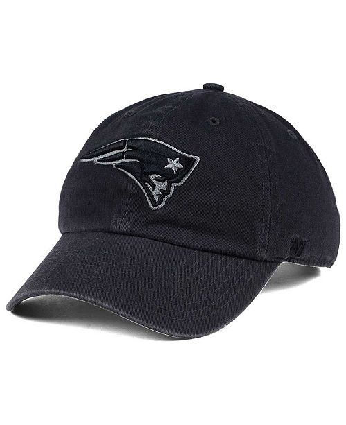 buy online 28a28 2f6ab New England Patriots Dark Charcoal CLEAN UP Cap