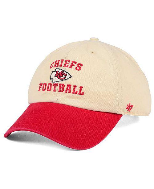 '47 Brand Kansas City Chiefs Steady Two-Tone CLEAN UP Cap