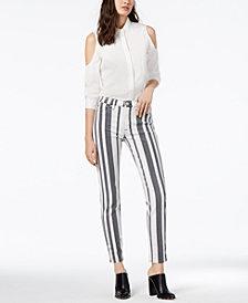 Hudson Jeans Striped Skinny Jeans