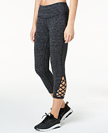 Ideology Cutout Cropped Leggings, Created for Macy's