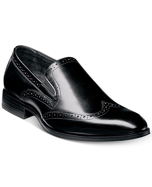 62e7f77af5c Stacy Adams Men s Sidney Wingtip Slip-on Loafers   Reviews - All ...