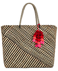 I.N.C. Stella Woven Beach Tote, Created for Macy's