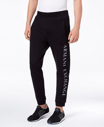 Armani Exchange Men's Logo-Print Sweatpants