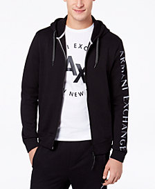 A|X Armani Exchange Men's Logo-Print Full-Zip Hoodie