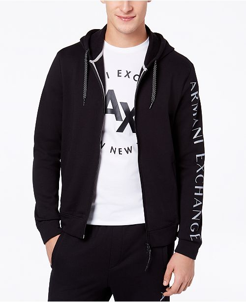 Full A Armani Reviews Logo Zip Hoodieamp; x Print Men's Exchange PXkuiOZ
