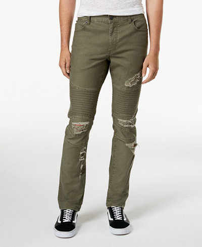 American Rag Men's Ripped Moto Jeans, Created for Macy's