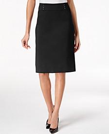 Rivet-Waist A-Line Skirt, Created for Macy's