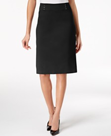 JM Collection Rivet-Waist A-Line Skirt, Created for Macy's
