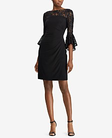Lauren Ralph Lauren Petite Lace Bell-Sleeve Dress