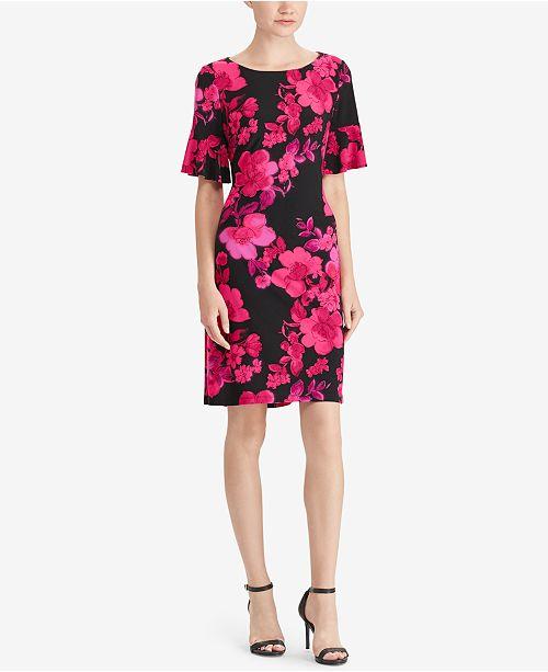 Floral-Print Slim-Fit Dress