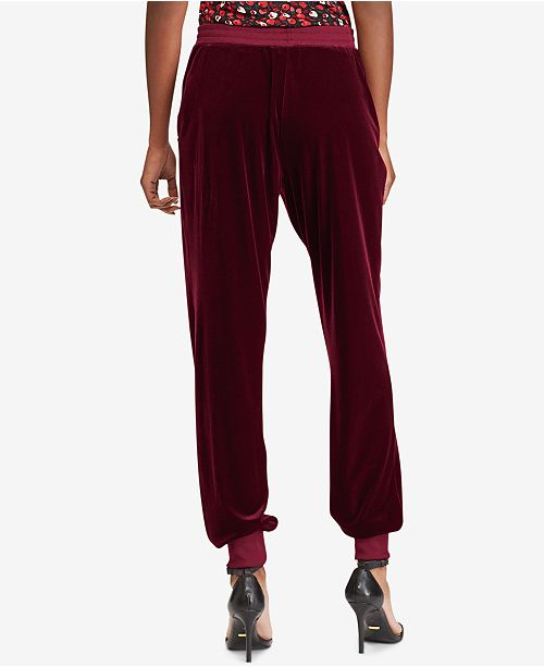c908ac96adfa22 Lauren Ralph Lauren Velvet Jogger Pants   Reviews - Pants   Capris ...