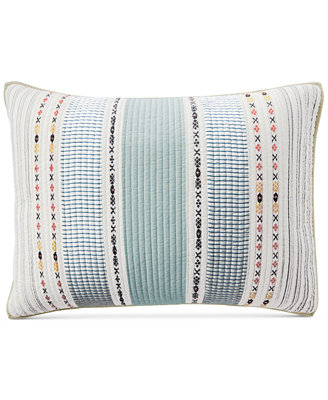 Cotton Earth Tone Stripe Standard Sham, Created For Macy's by Martha Stewart Collection