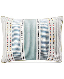 Martha Stewart Collection Cotton Earth-Tone Stripe Standard Sham, Created for Macy's