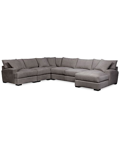 Rhyder 5-Pc. Fabric Sectional Sofa with Chaise, Created for Macy\'s