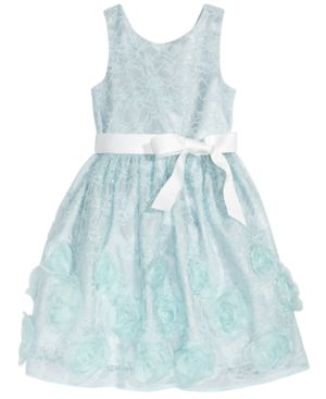 Pink & Violet Rosette Lace Dress, Toddler Girls 5441091