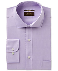 Tasso Elba Men's Regular Fit Non-Iron Stripe French Cuff Dress Shirt, Created for Macy's