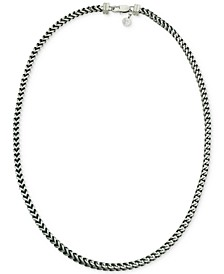 Link Necklace in Stainless Steel and Black Ion-Plate, Created for Macy's