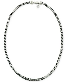 Esquire Men's Jewelry Link Necklace in Stainless Steel and Black Ion-Plate, Created for Macy's